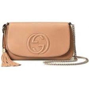 Gucci Camel Beige SOHO Leather Medium Chain Bag